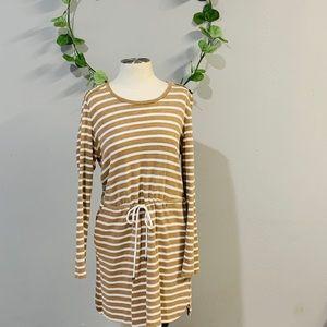 Morons Target dress striped tan and white size L